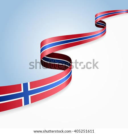 Norwegian flag wavy abstract background. Vector illustration. - stock vector