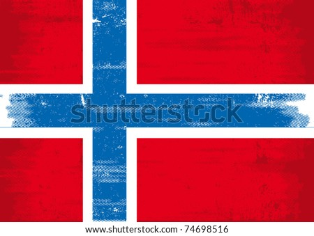 Norwegian grunge flag A Norwegian grunge flag with a texture - stock vector