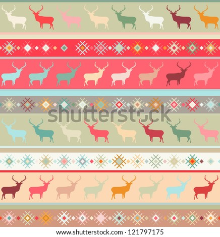 Norwegian seamless pattern. And also includes EPS 8 vector - stock vector