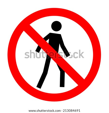 Not allowed, No entry sign, vector, eps10. - stock vector
