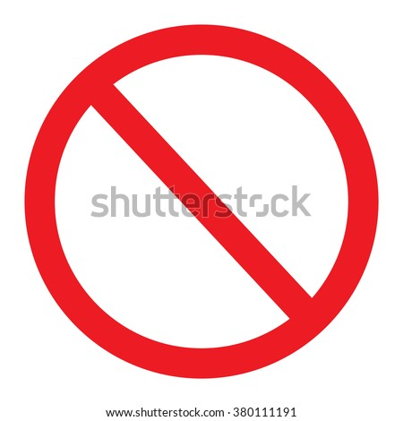 Not allowed sign, No Sign Vector Illustration on white background - stock vector
