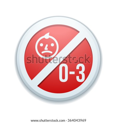 Not for children under 3 years of age - stock vector