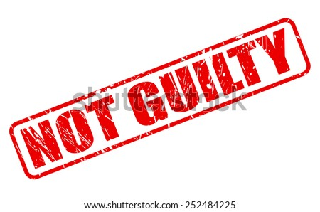 Not guilty red stamp text on white - stock vector