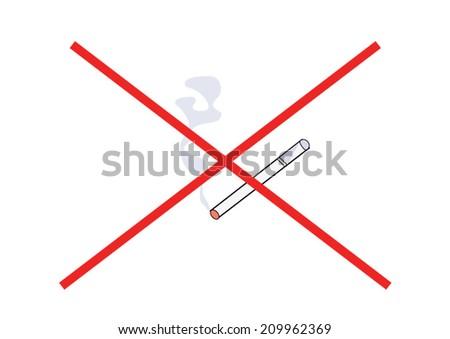 not smoking kill you - stock vector