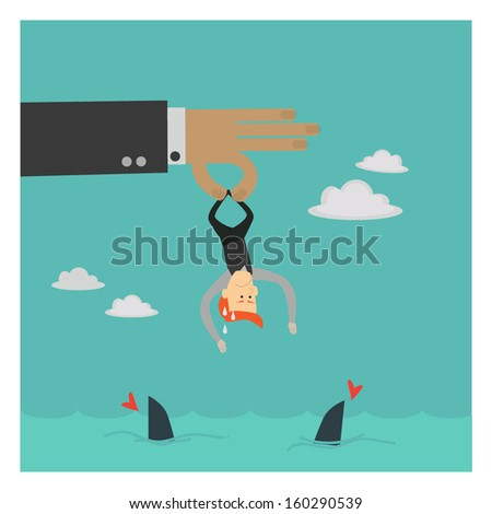 not target ,sort out to feeding shark , eps10 vector format - stock vector