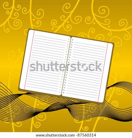 Note - stock vector
