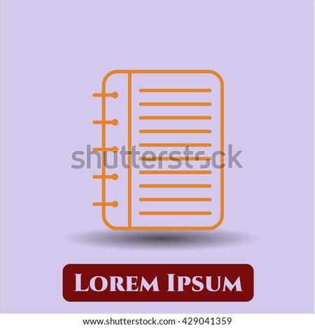 Note Book icon, Note Book icon vector, Note Book icon symbol, Note Book flat icon, Note Book icon eps, Note Book icon jpg, Note Book icon app, Note Book web icon, Note Book concept icon - stock vector