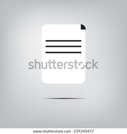 Note Book Paper Icon Symbol Education Stock Vector 339240437
