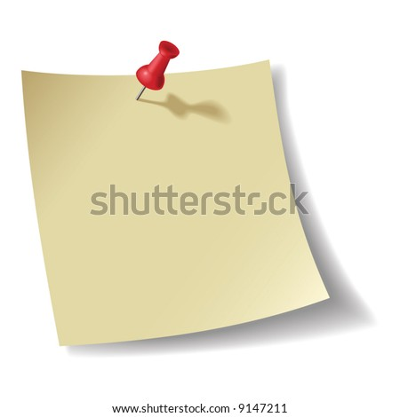 Note pad - blend and gradient only - stock vector