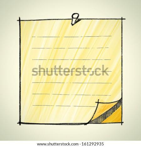 Note pad sketchbook : vector eps10 - stock vector