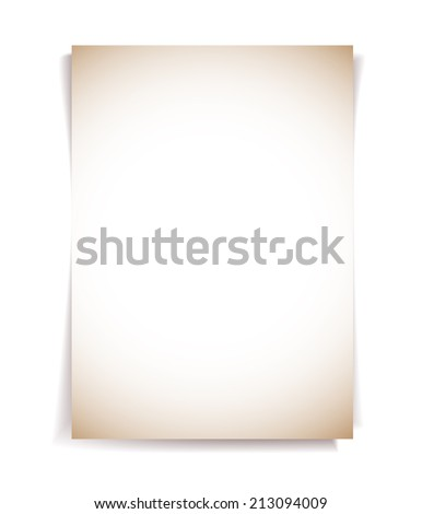 Note paper adhesive on white background - stock vector