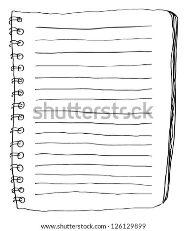 Note paper doodle - stock vector
