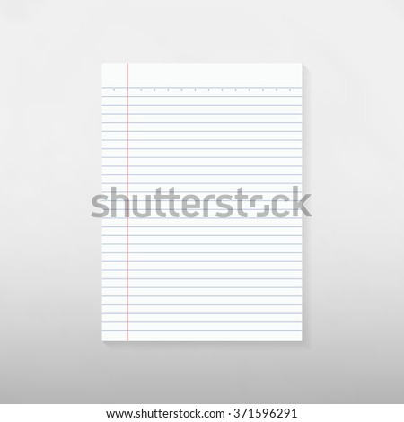 Note paper on gray background - Vector - stock vector