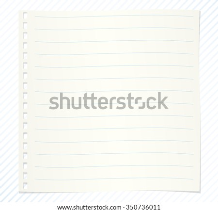 Note paper with lines on striped background