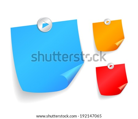 Note papers, vector illustration