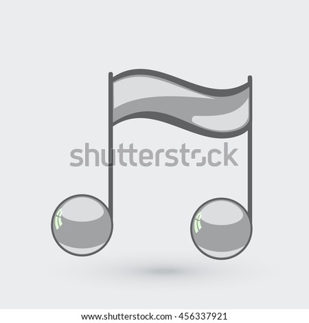 Note sing icon. Musical symbol. Vector illustration - stock vector