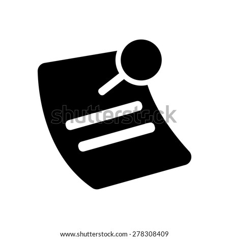 Note with Pushpin symbol icon vector illustration eps10 on white background - stock vector