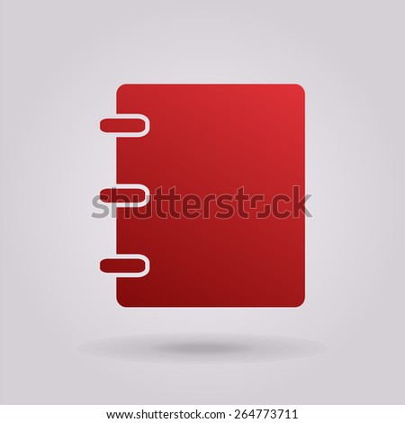 Notebook, address, phone book icon - stock vector