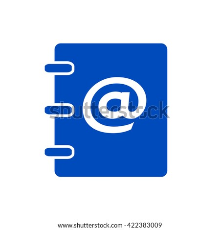 Notebook, address, phone book icon