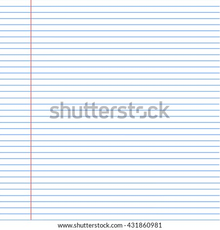 notebook background. Paper in line. Vector illustration - stock vector