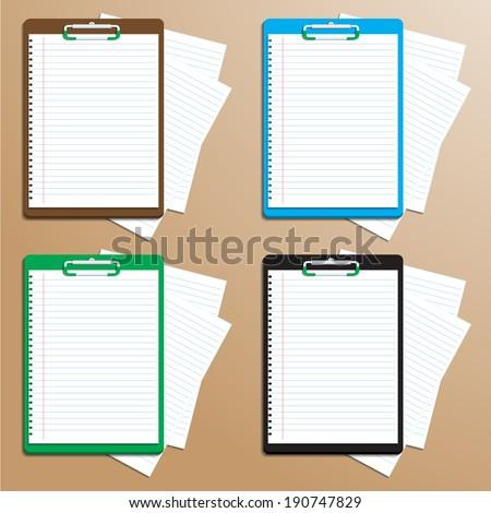 notebook bookmark.vector - stock vector