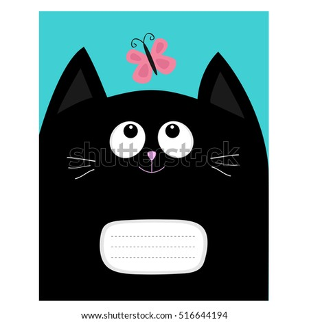 Notebook Cover Composition Book Template Black Stock Vector ...