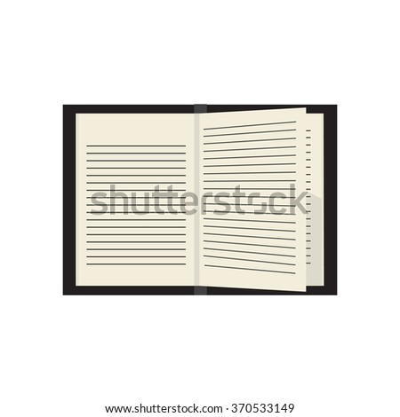 notebook.  icon.  Isolated on a colored background. Vector illustration. - stock vector