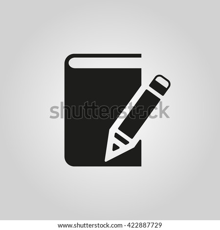 Notebook icon. vector design. Diary and sketchpad symbol. web. graphic. JPG. AI. app. logo. object. flat. image. sign. eps. art. picture - stock vector - stock vector