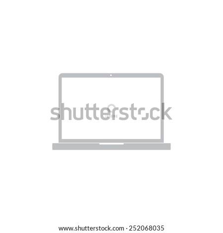 notebook - laptop - computer - stock vector