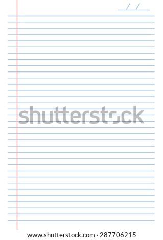 notebook lines - stock vector