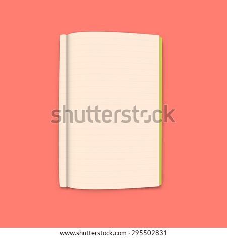 Notebook on orange background vector - stock vector