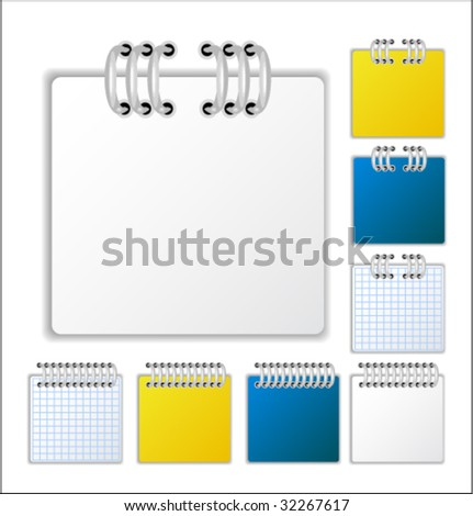 Notebook page - stock vector