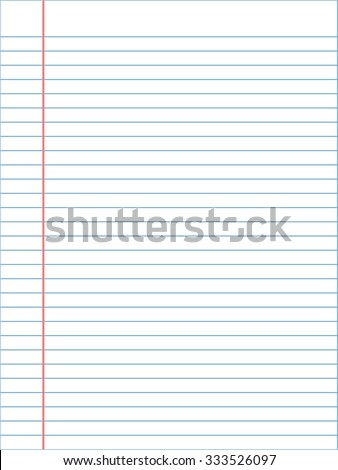notebook page template lines vector stock vector 333526097