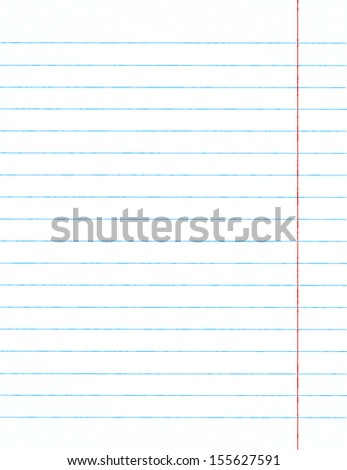 Notebook paper (background) - stock vector