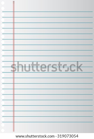 Notebook paper background stock vector 2018 319073054 shutterstock notebook paper background altavistaventures Image collections