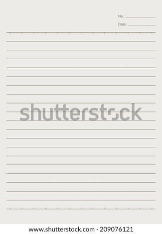 Notebook paper background - Vector - stock vector