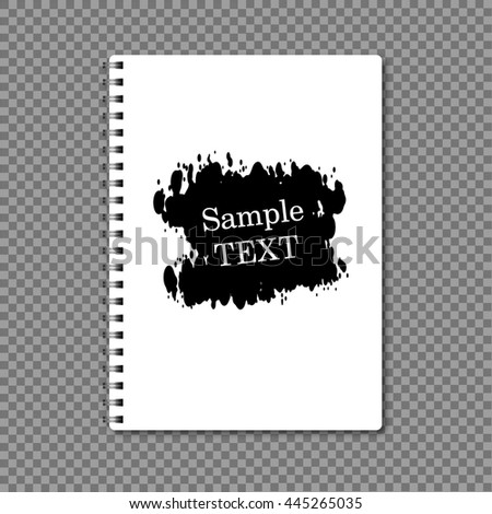 Notebook paper on a spring grunge design - stock vector