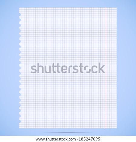 notebook paper sheet.  - stock vector