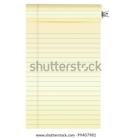 notebook paper. Vector illustration.
