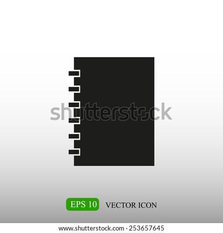 Notebook vector icon - stock vector