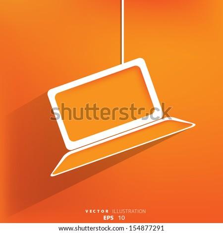 Notebook web icon,flat design - stock vector