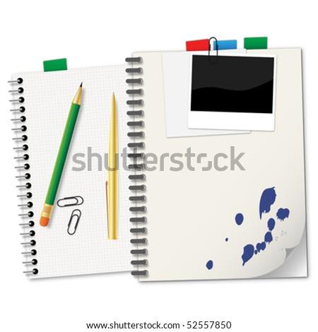 Notebooks - stock vector