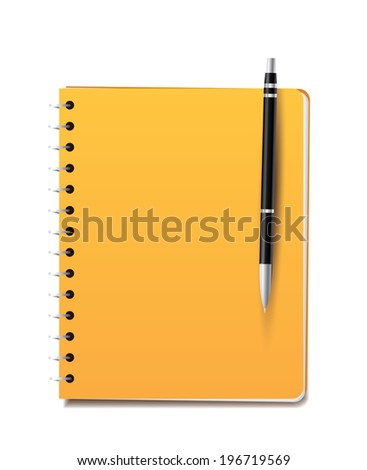 Notepad and pencil. - stock vector