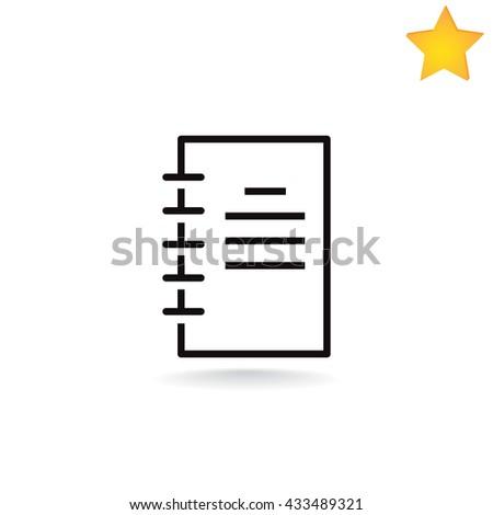 Notepad icon. Notepad icon Vector. Notepad icon Art. Notepad icon eps. Notepad icon Image. Notepad icon logo. Notepad icon Sign. Notepad icon Flat. Notepad design. Notepad icon app. Notepad icon UI. - stock vector