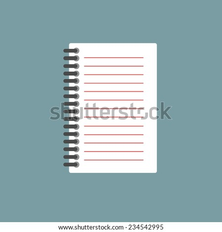 Notepad icon. vector illustration - stock vector