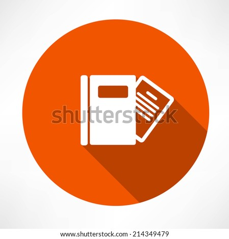 notepad icons - stock vector