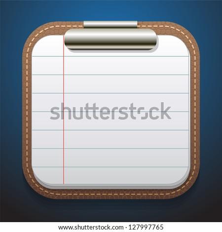 notepad vector - stock vector