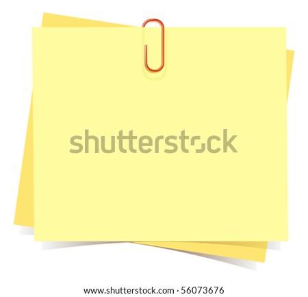 Notes - stock vector