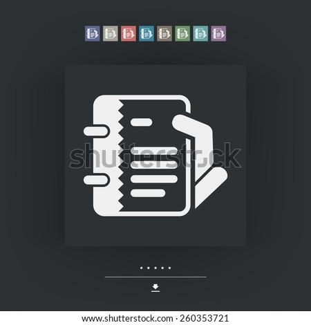 Notes icon - stock vector