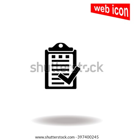 Notes icon. Universal icon to use in web and mobile UI - stock vector